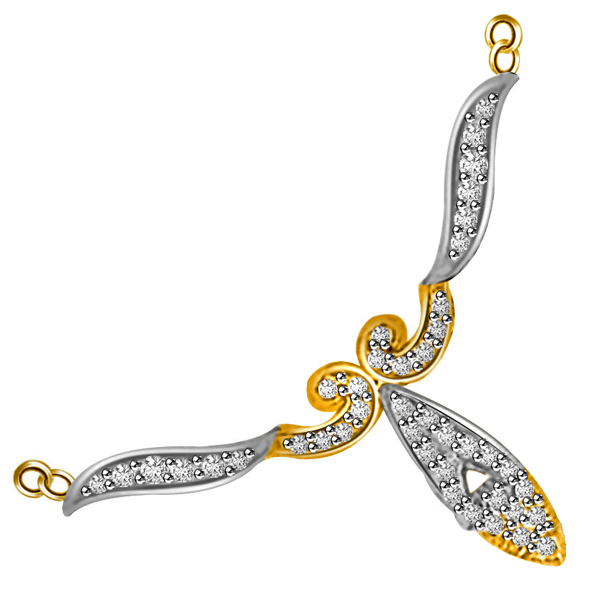 Two Tone VS Diamond Necklace Pendant