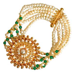 Diamond Pendants-Green Onyx and Gold Plated Pendant