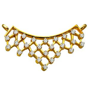 Diamond Pendants-Diamond Studded Necklace Pendant