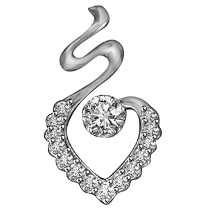 Diamond Pendants-White Gold & Diamond Solitaire Pendant