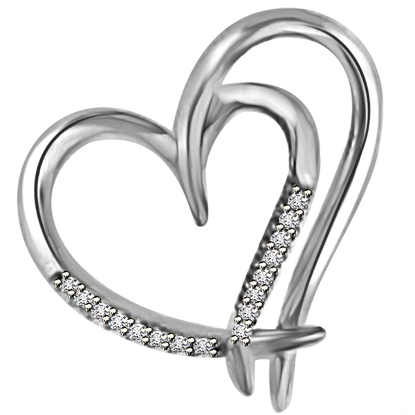 Gold & Diamond Heart Pendant