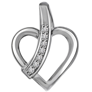 Diamond Pendants-Diamond & White Gold Pendant