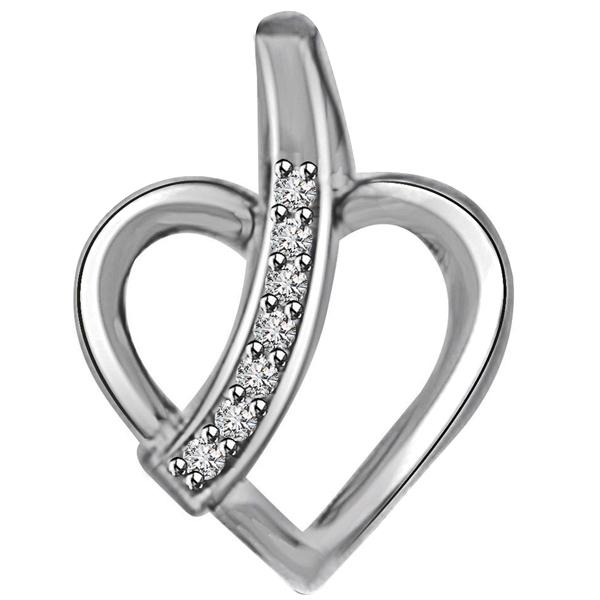 Diamond & White Gold Pendant