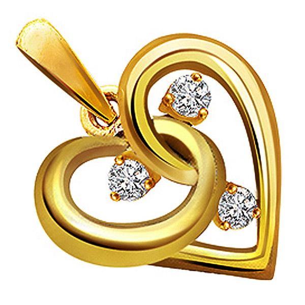 Diamond Pendants-Diamond Heart Pendant