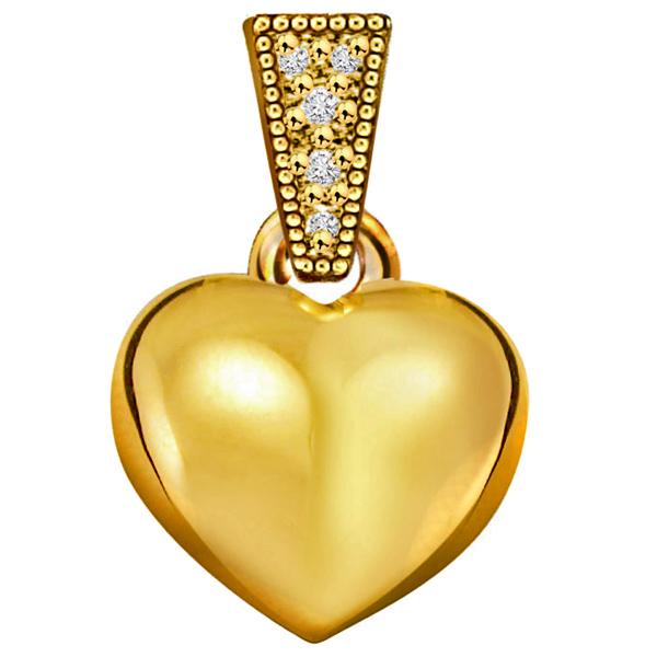 Diamond Pendants-Heart Shape Classic Diamond Pendant