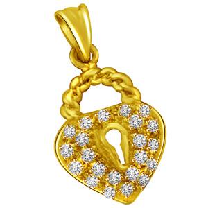 Diamond Pendants-Gold & Diamond Pendant