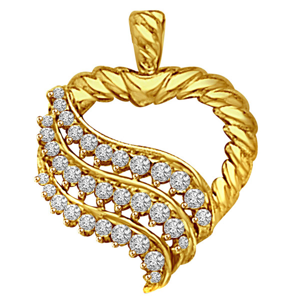 Diamond Pendants-Heart Shaped Pendant
