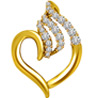 Elegant Diamond Gold Heart Pendant