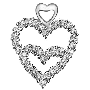 Diamond Pendants-Diamond Heart Pendant