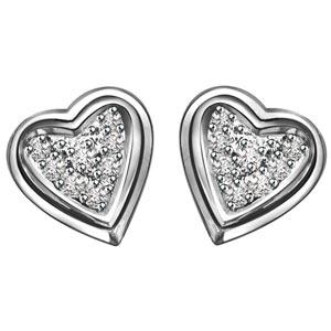 Diamond Earrings-Sweetheart Diamond Earrings