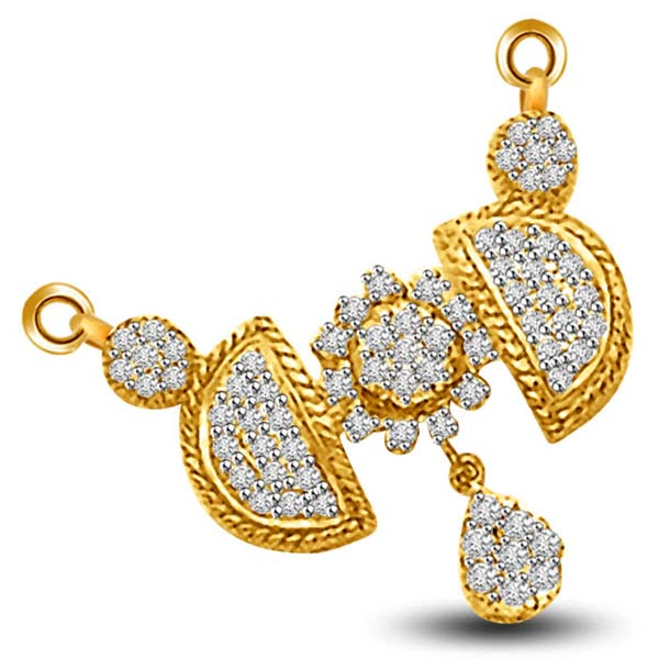 Diamond Pendants-Diamond Mangalsutra Pendant