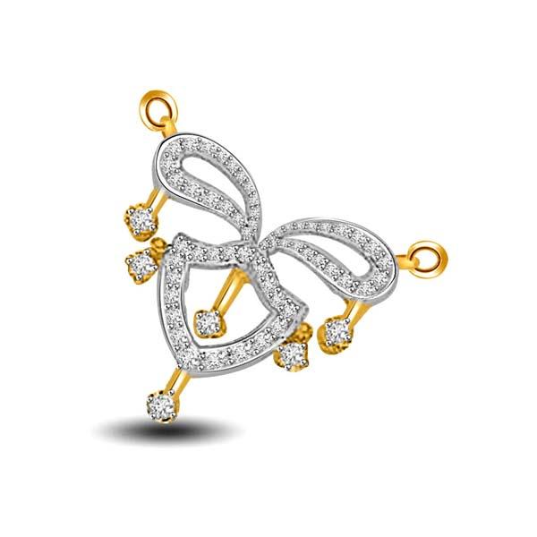 Two Tone Diamond Necklace Pendant