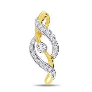 Diamond Pendants-Diamond and Gold Pendant