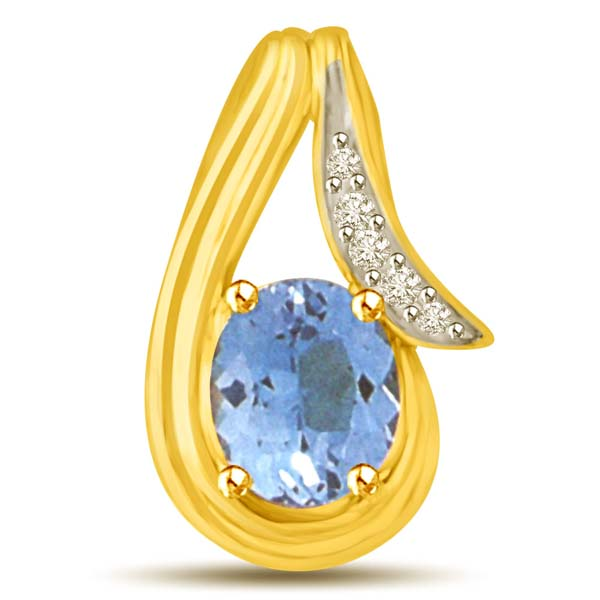 Diamond Pendants-Diamond and Gold Pendant