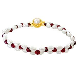 Pearl Bracelets-Pearl Ruby Bracelet