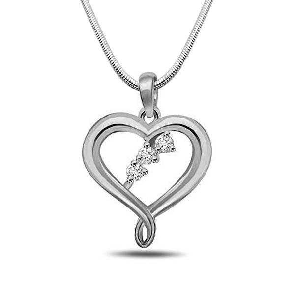 Diamond and Silver Pendant