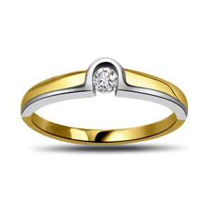 Diamond-Two Tone Diamond Gold Ring