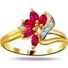 Diamond Marquise Ruby Ring