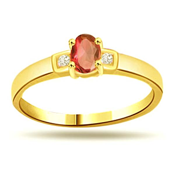 Diamond-Classic Diamond & Ruby Ring