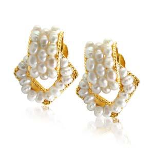 Pearl Earrings-Enchanting Pure Pearl Earrings
