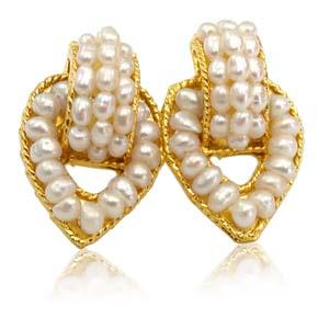 Pearl Earrings-Pearl Charmer Earrings