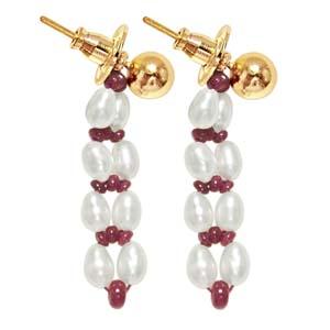 Pearl Earrings-Alluring Pearl Earrings