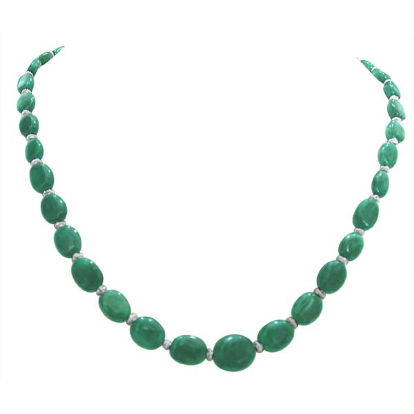 Emerald and Pearl Necklace