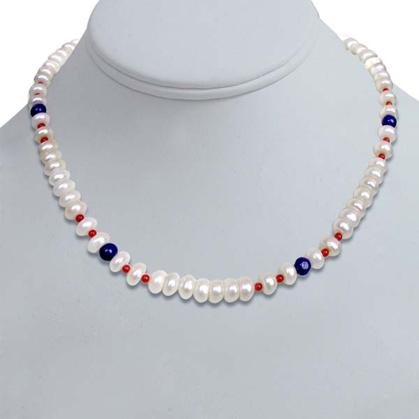 Single Line Pearl Necklace
