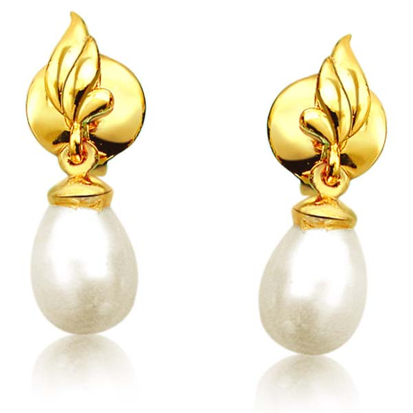 Blazing Beauty Pearl Earrings