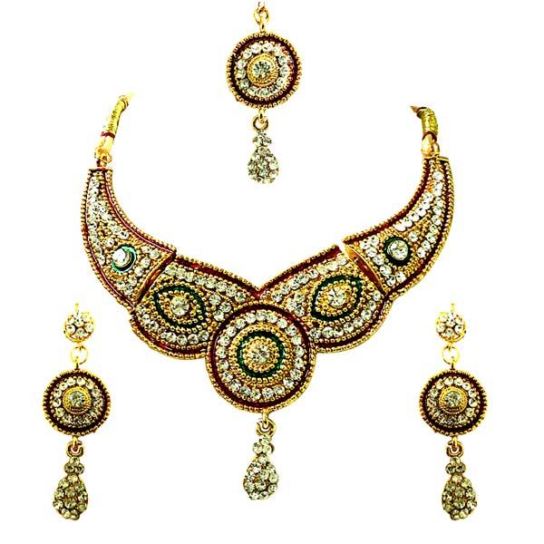 Nazneen Kundan Polki Fashion Jewelry Set
