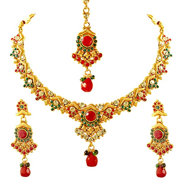 V Shaped Earrings & Jewelry Set