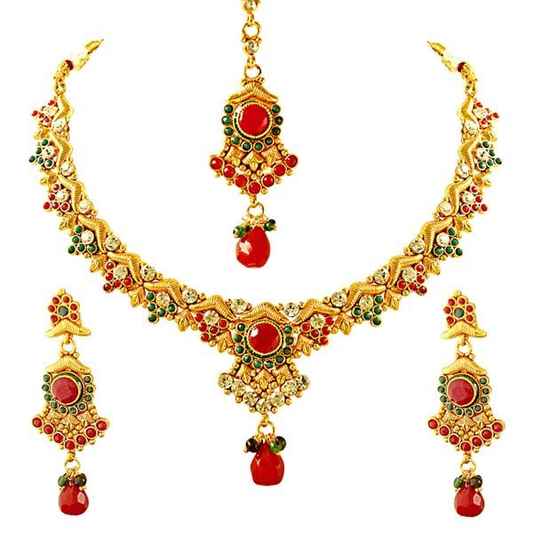 V Shaped Earrings & Jewelry Set