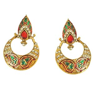 Drop Shaped Chand Bali Earrings
