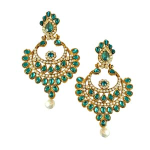 Gold Plated Earrings-Ethnic Chand Bali Earrings