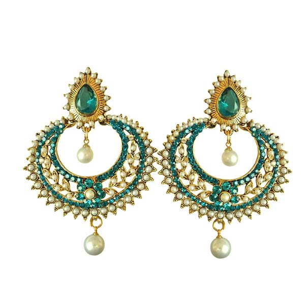 Gold Plated Earrings-Fancy Chand Bali Earrings