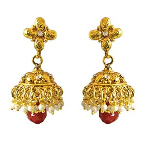 Traditional Copper Jhumki Earring