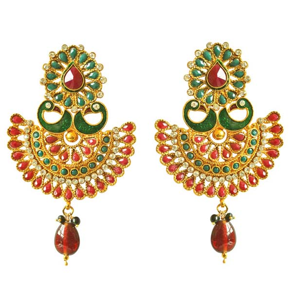 Earring-Traditional Peacock Shaped Copper Earrings