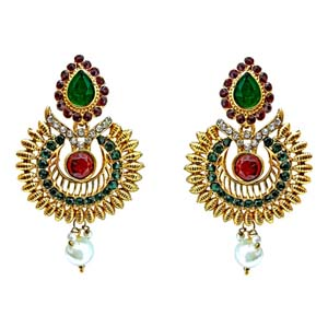 Ethnic Drop Shaped Hanging Earrings