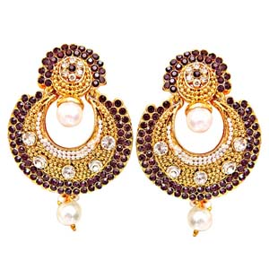 Earring-Traditional Round Shaped Dangling Earrings