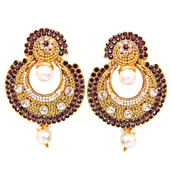 Traditional Round Shaped Dangling Earrings