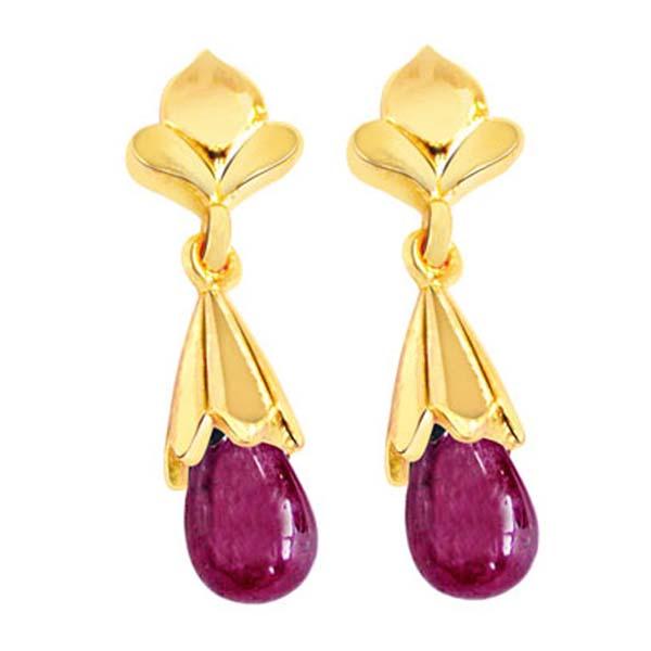 Gold Plated Earrings-My Love Is True Earrings