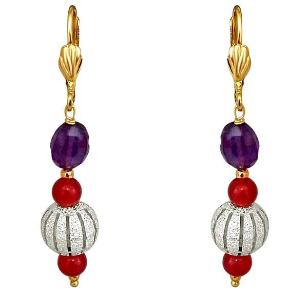 Oval Ball Earrings