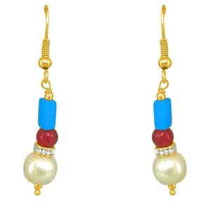 Precious Stone Earrings-Turquoise & Coloured Stone Earrings