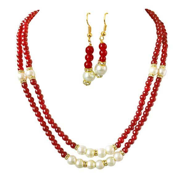 2 Line Necklace & Earrings Set