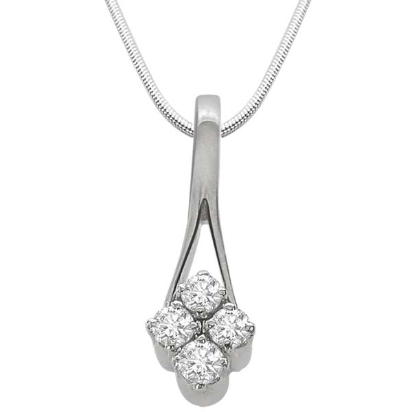Real Diamond & Sterling Silver Pendant