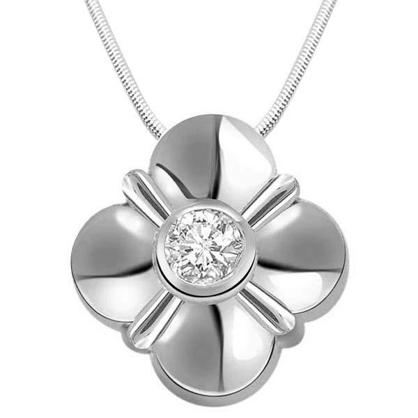 Real Diamond & Sterling Silver Pendant