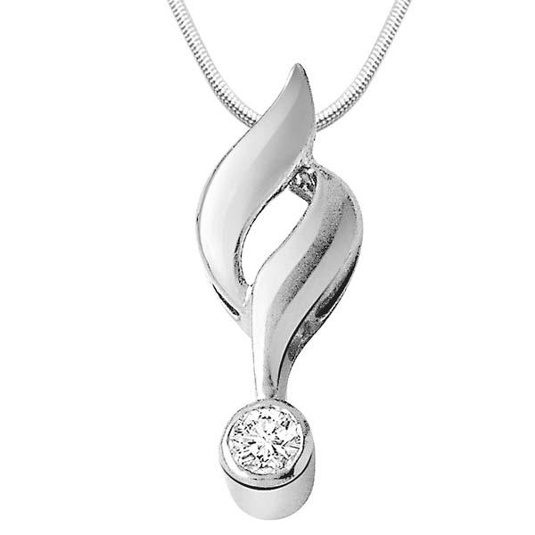 Diamond & Sterling Silver Pendant
