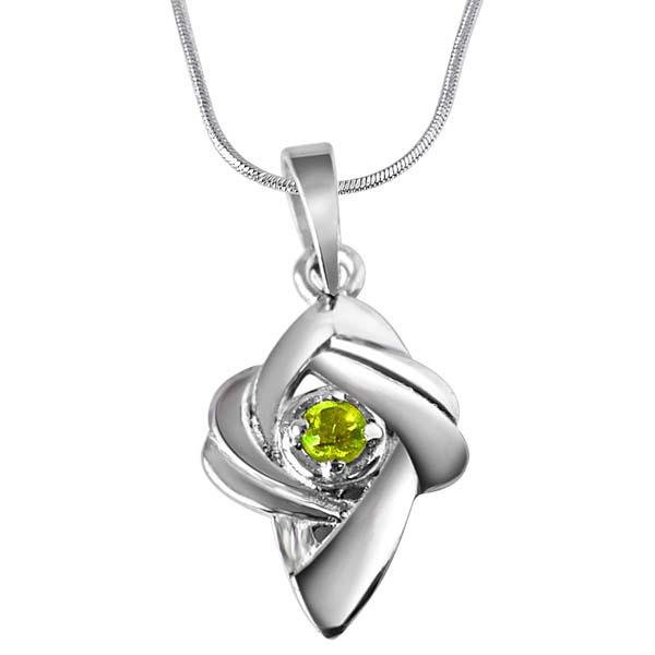 Peridot & Sterling Silver Pendant