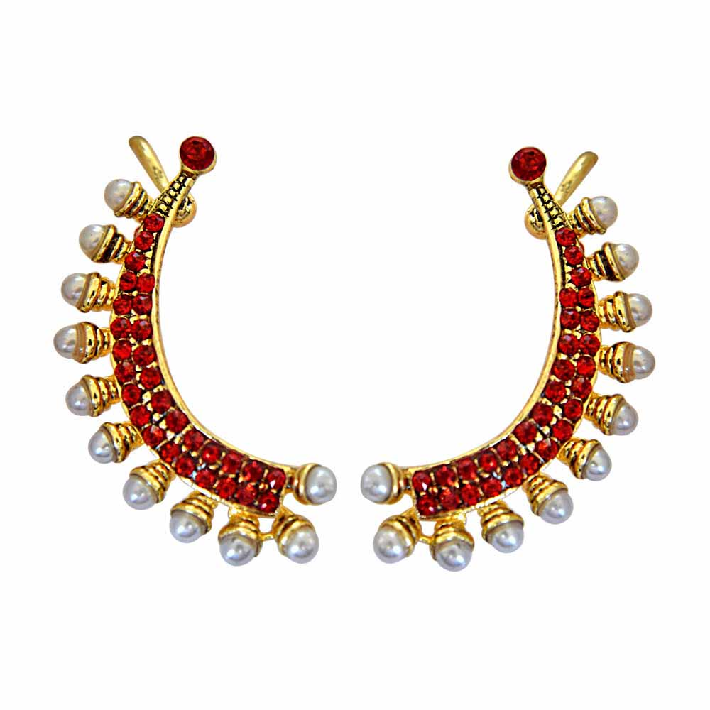 Gold Plated Earrings-Red Sea Ear Cuffs