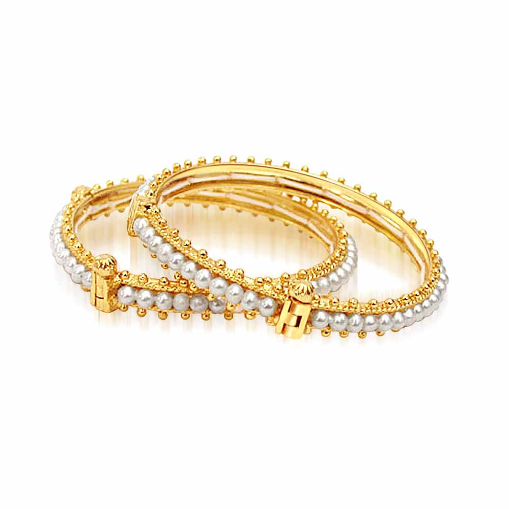 Gold / Silver Plated Bangles-Bed of Roses